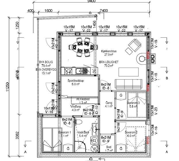 Plantegning 1 etasje liten