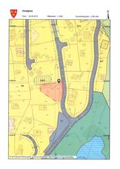 Kart som viser eiendommen og tomtedelingen