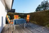 Skjermet og solrik terrasse
