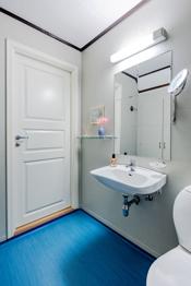 Badet kan enkelt utvides ved fjerning av bod.