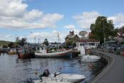 Stemningsbilde fra Båthavna i sentrum