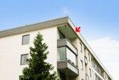 Topp- og endeleilighet med balkong