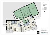 Etasjeplan 2 med fellesanlegg med boder - illustrasjon