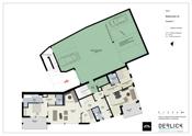Etasjeplan 3  med felles garasjeanlegg - illustrasjon