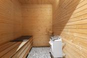 Badstue i tilknyttning med bad i 2.etasje