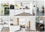 Kjøkkenet er i moderne utførelse med integrerte hvitevarer. Rommet ble pusset opp i 2013