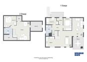 Planskisse 2. etasje, samt FORESLÅTT innredning av loftsetasje.