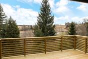 Ny veranda ut fra stuen på ca. 12 m2.