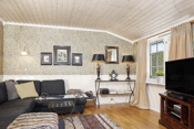 Lun og god tv-stue alternativt soverom i den tilbygde stuen