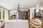 Flott rom som gir et eget særpreg på boligen