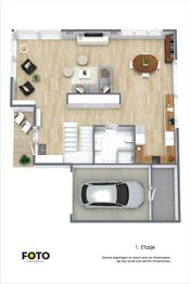1. etasje enebolig - Meget praktiske og gode planløsninger i begge etasjer