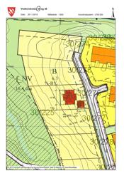Situasjonskart plassering hus og garasje Vestlundveien 34