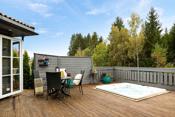 Terrasse med jacuzzi