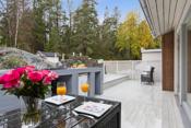 Fine terrassearealer og utekjøkken