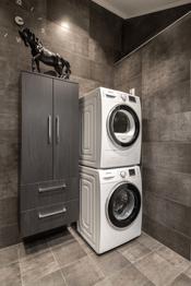 Opplegg for vaskemaskin på bad