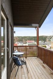 Stor solrik veranda