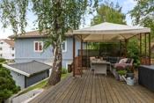 Fin terrasse og uteplass for hyggelige sommerdager