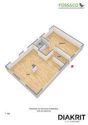 3D plantegning (illustrasjon - avvik kan forekomme) 1. etasje