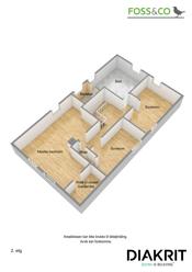 3D plantegning (illustrasjon - avvik kan forekomme) 2. etasje