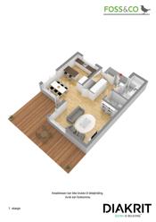 3D plantegning 1. etasje
