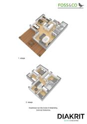 3D plantegning begge etasjer