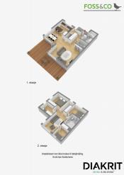Plantegning begge etasjer