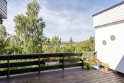 Gode solforhold og utsaikt fra terrassen