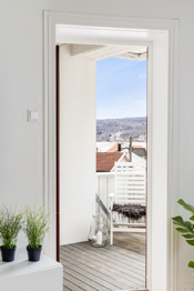 Detaljbilde utgang til balkongen