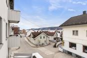 Utsikt til fjorden sydover fra balkongen