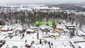 Dronefoto med avstandsoversikt.