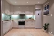 Kjøkken med god skapplass