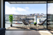 Flott utsyn - overbygget veranda