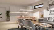 3D-illustrasjon stue/kjøkken