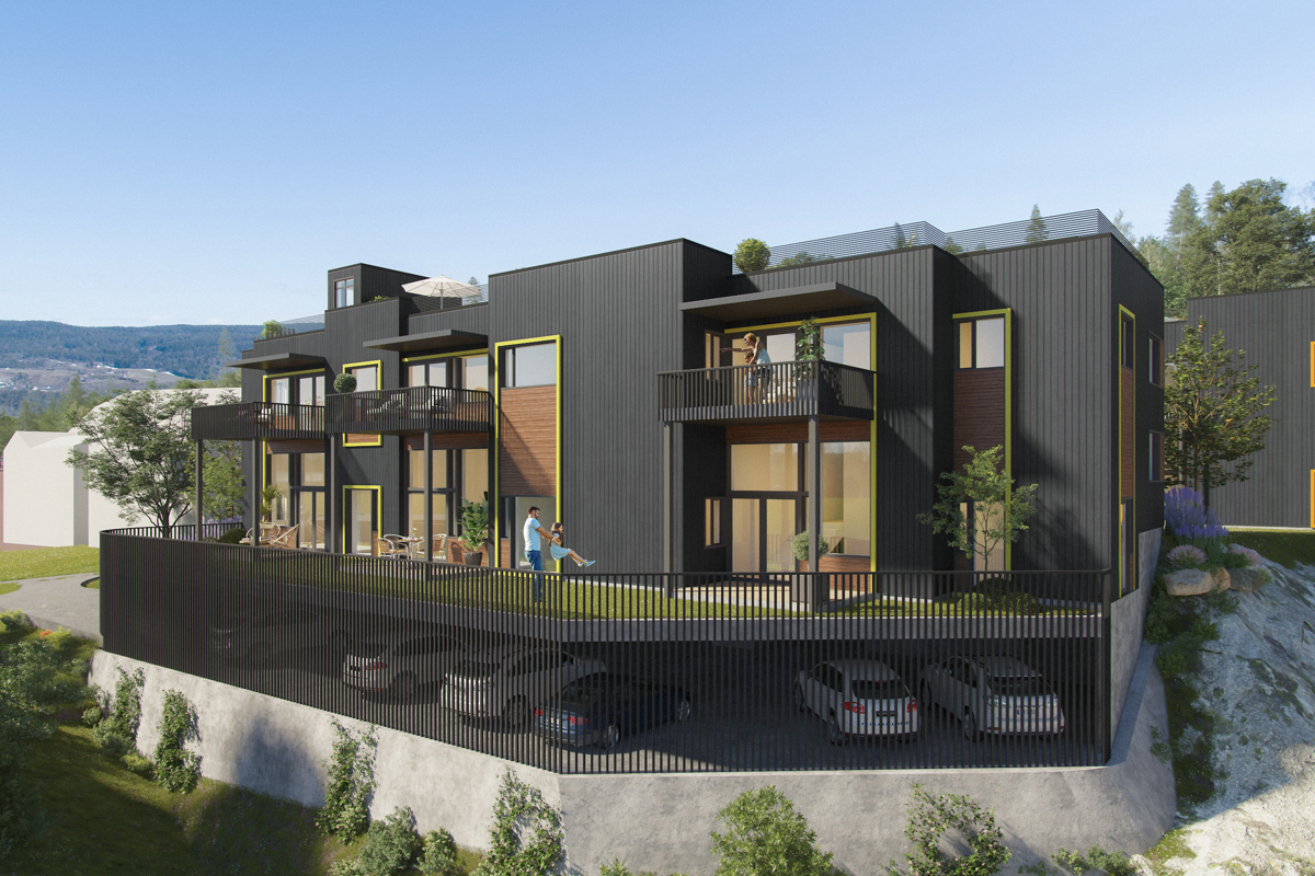 Moderne flotte leiligheter med flott utsikt og meget gode solforhold.
