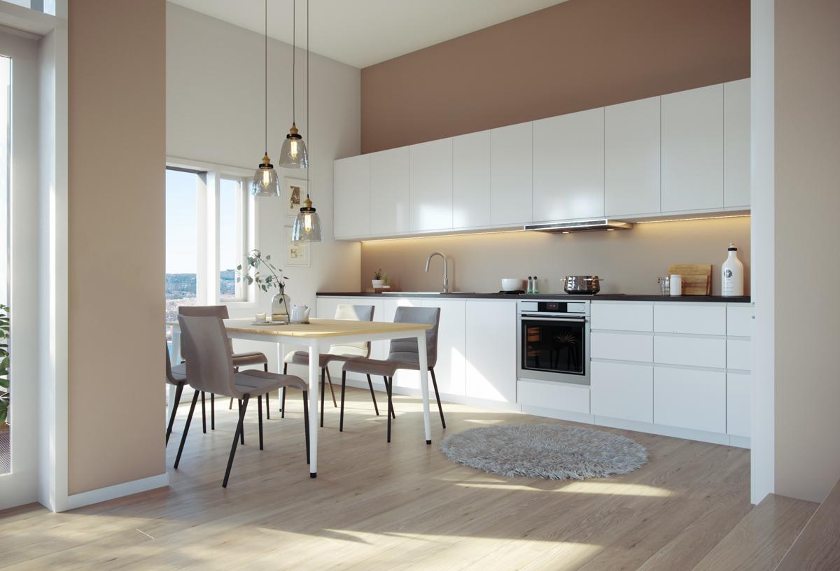 Moderne kjøkkeninnredning  (illustrasjon)