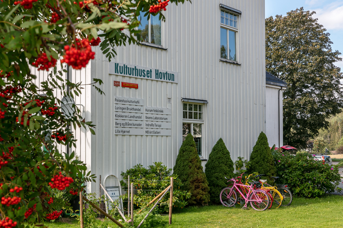 Kulturhuset Hovtun i gangavstand til prosjektet