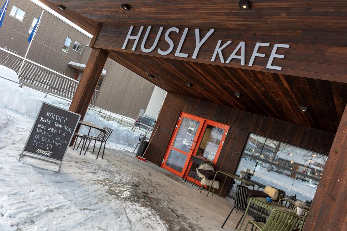 Koselig Cafe i  Bø sentrum.