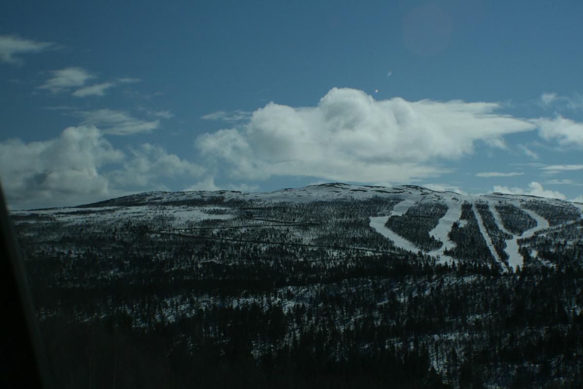 Skisenteret på Dagali, tomtene ligger på venstre side av anlegget