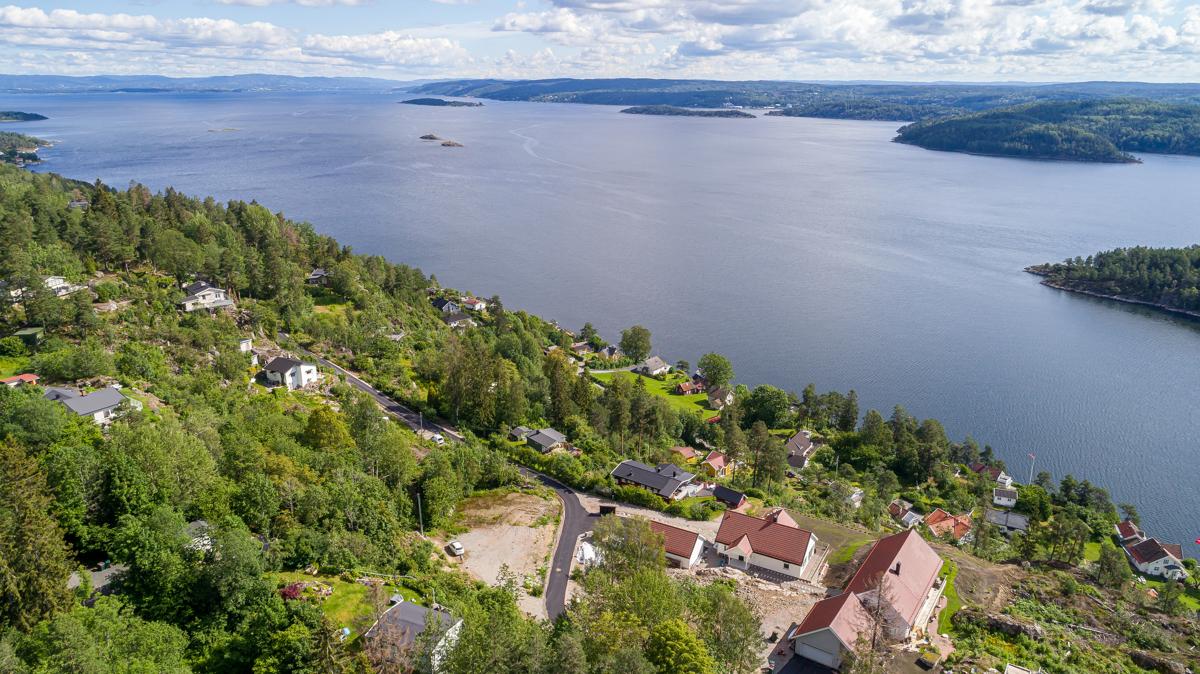 Utsikt mot Oslo innover Oslofjorden.