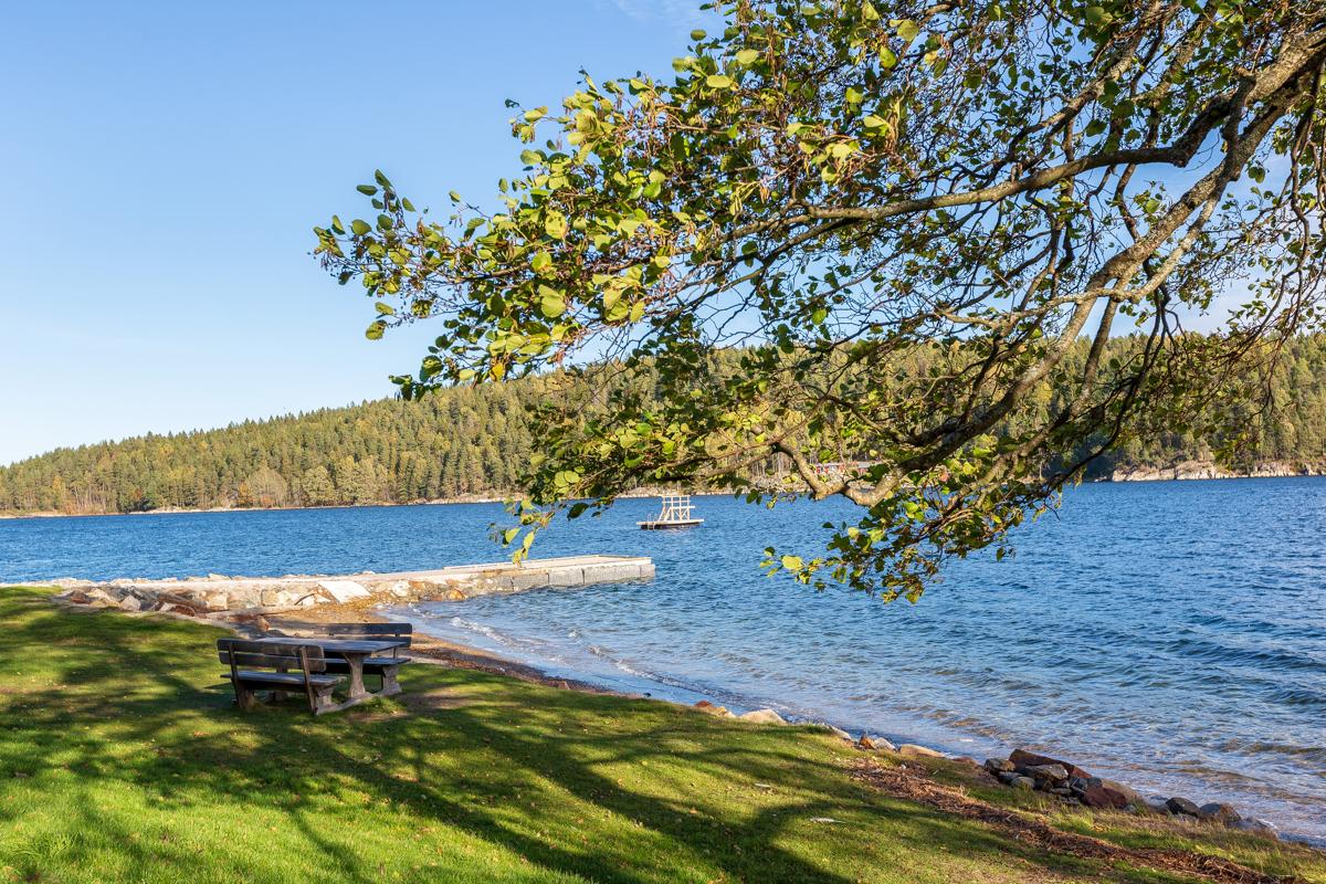 Verven, badestranden i Åros