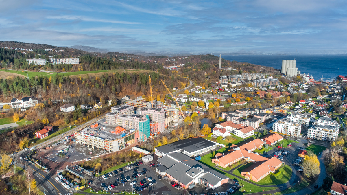 Leiligheten vil ligge i 1. etasje med utsikt mot Oslofjorden