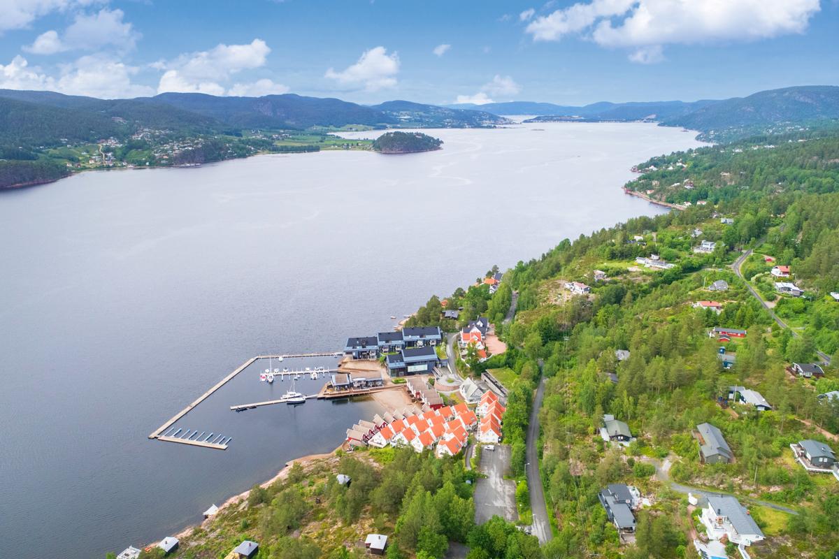 Oversiktsbilde over området og Drammensfjorden