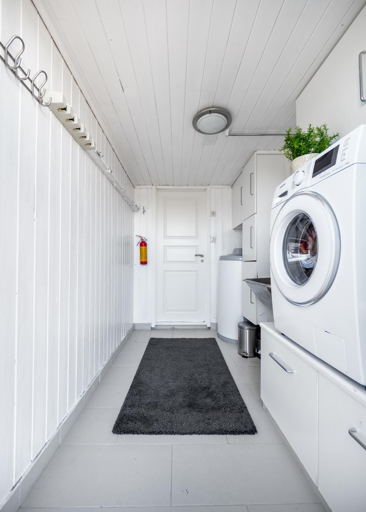 Vaskerom med opplegg til vaskemaskin