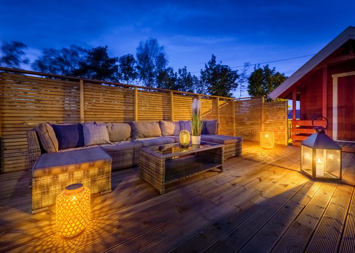 Hyggelig uteplass på terrassen