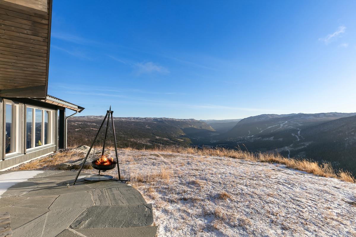 Fantastisk utsikt fra tomten og hytta