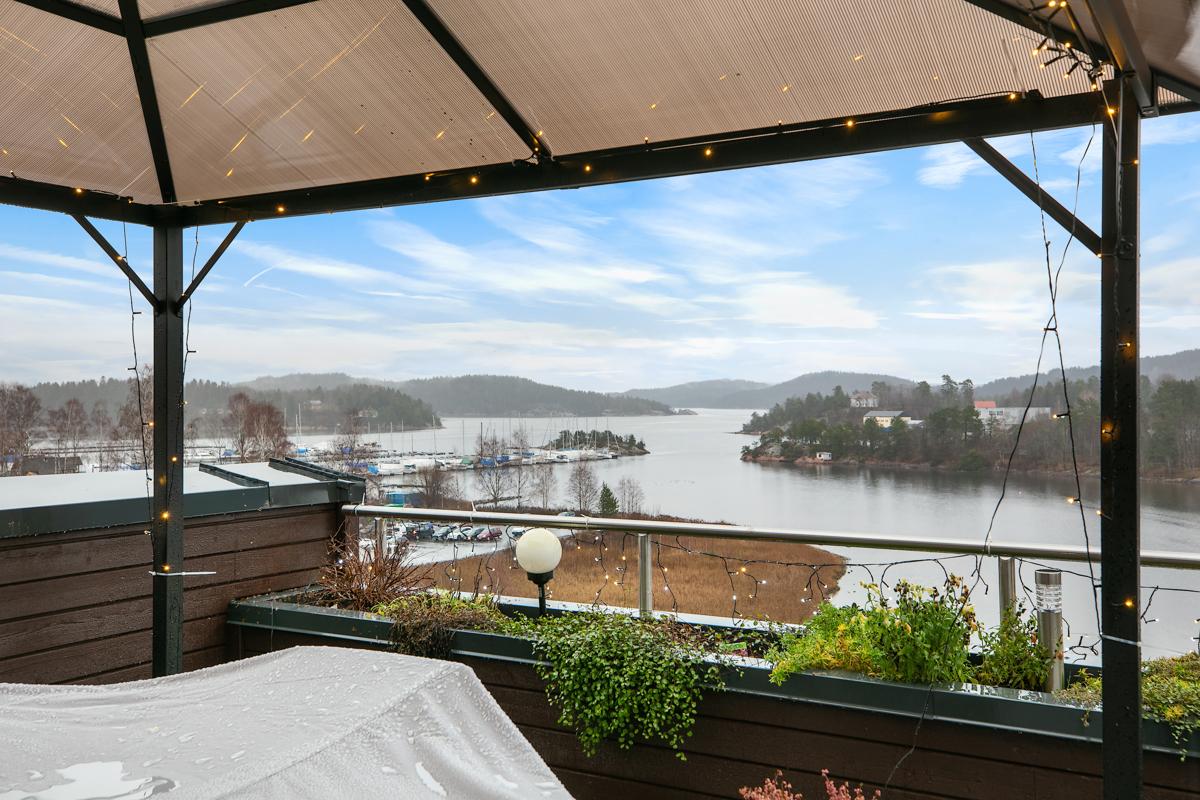 Utsikt fra terrassen