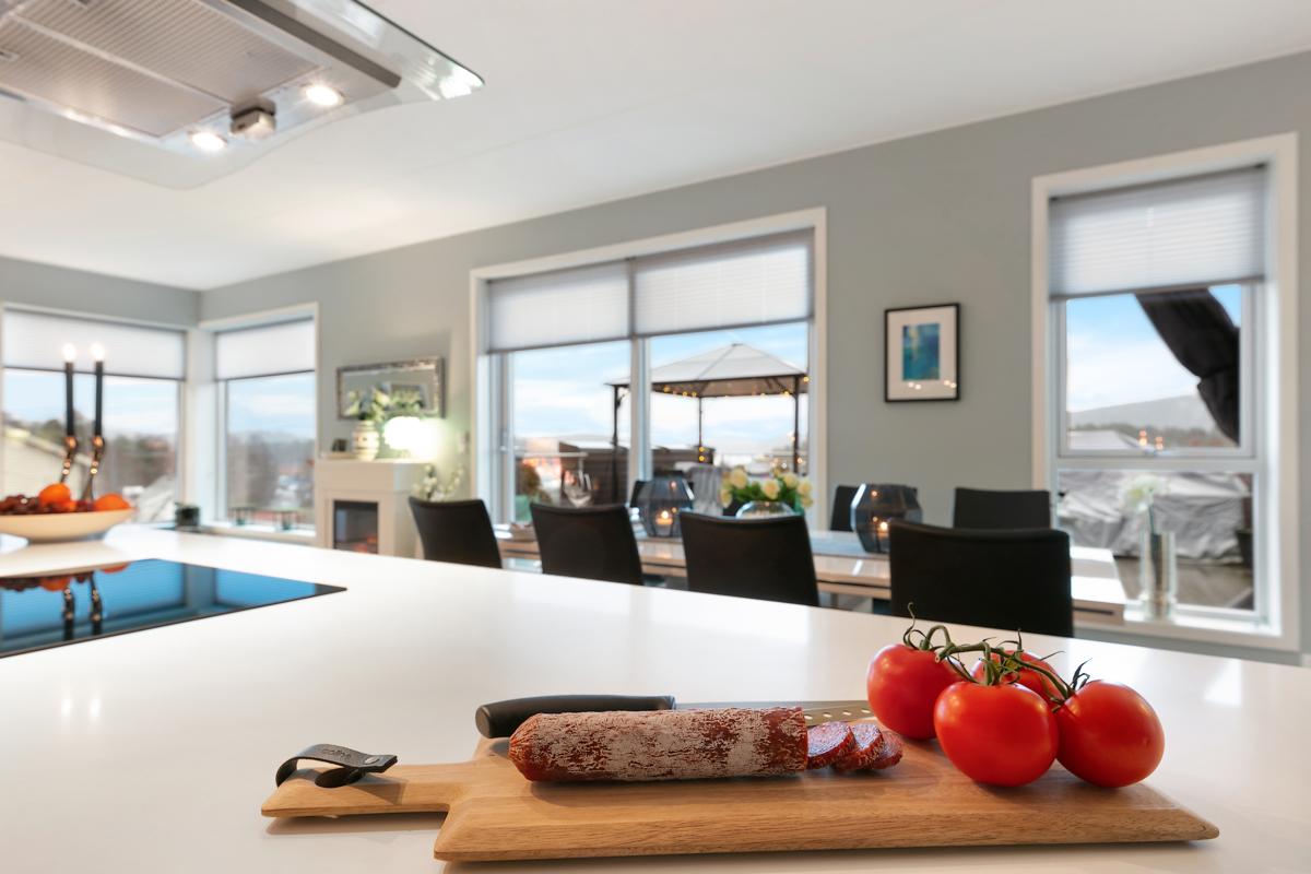 Her kan du lage mat og nyte utsikten samtidig