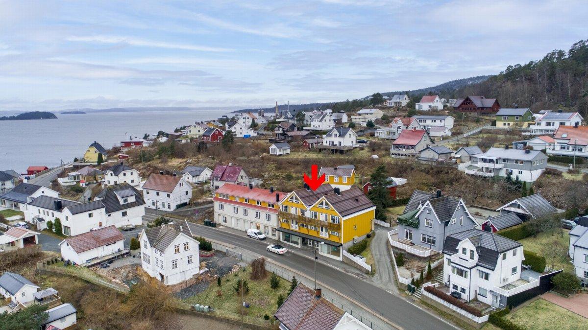 Oversiktsbilde som viser deler av nabolaget