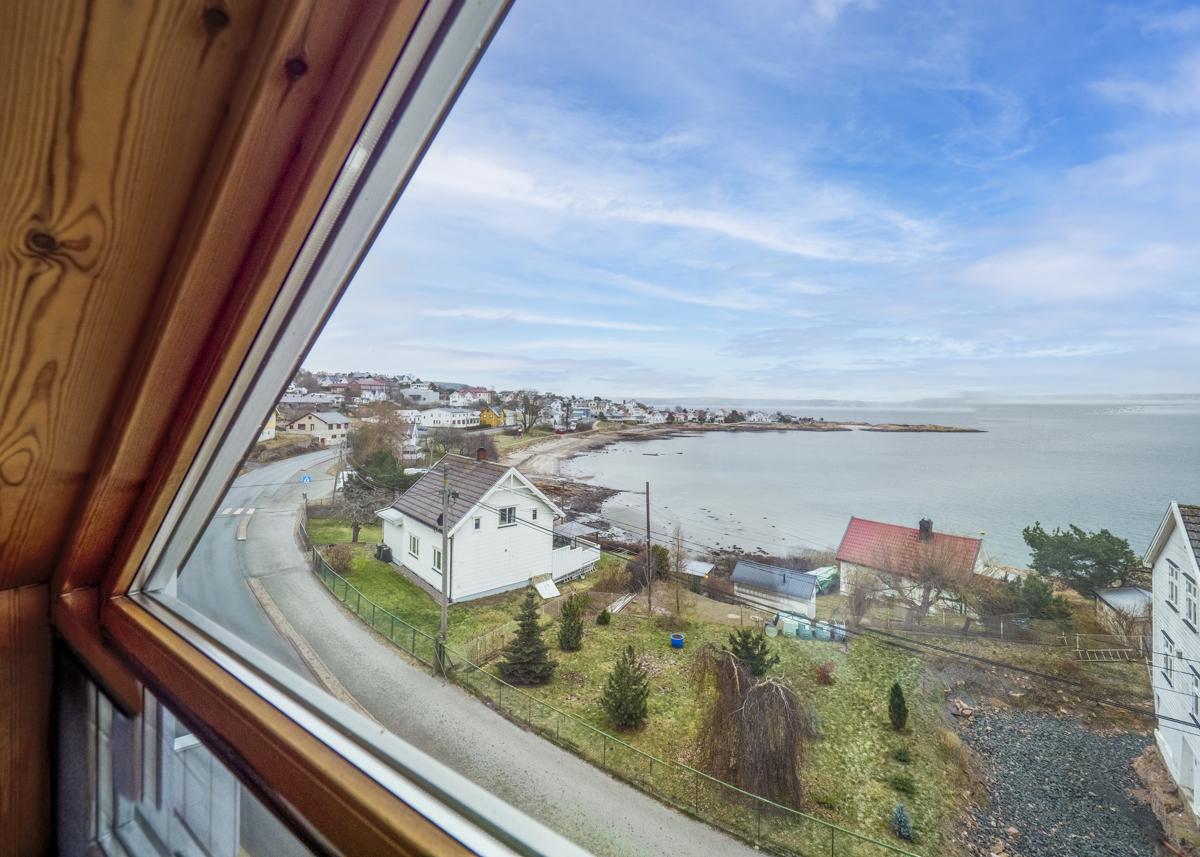Utsikt fra loftetasjen - Her ser du utover Oslofjorden og mot sentrum