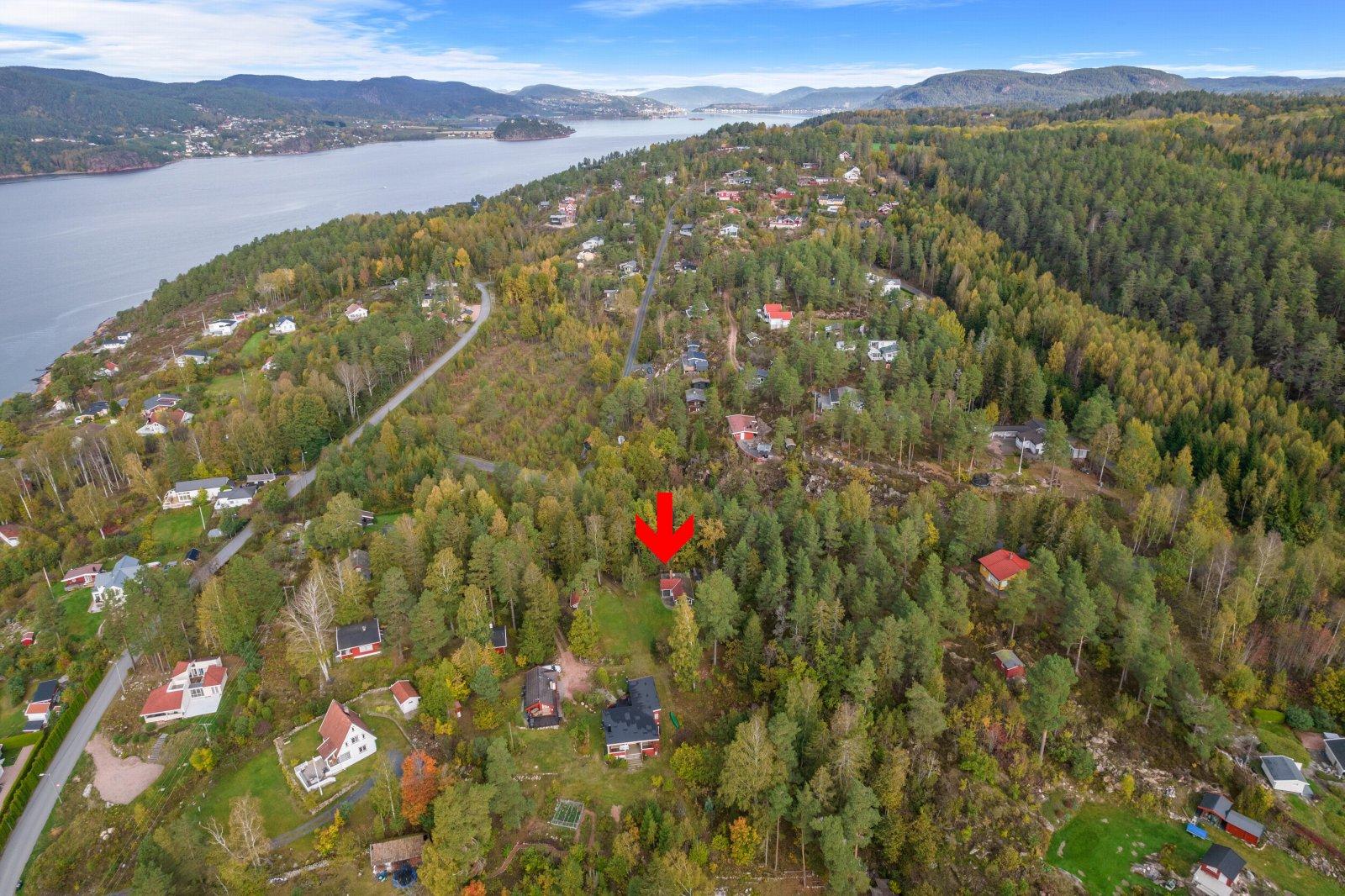 Oversiktsbilde som viser eiendommens beliggenhet